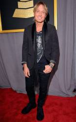 Keith Urban on the 59th annual Grammy Awards red carpet in Los Angeles on February 12, 2017.