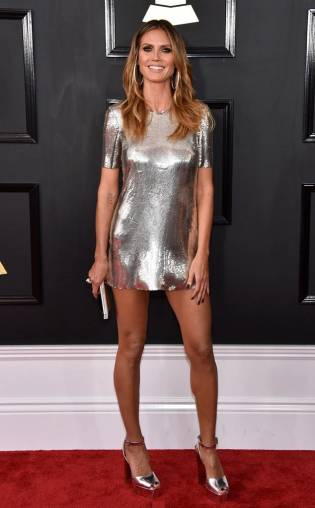 Heidi Klum on the 59th annual Grammy Awards red carpet in Los Angeles on February 12, 2017.