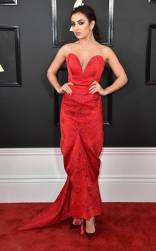 Charli XCX on the 59th annual Grammy Awards red carpet in Los Angeles on February 12, 2017.
