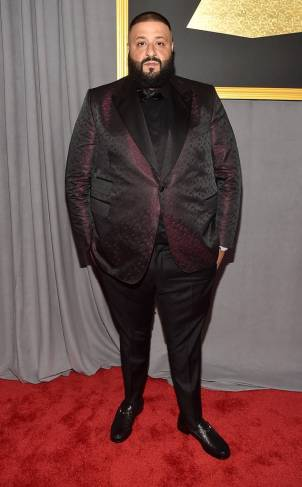 DJ Khaled on the 59th annual Grammy Awards red carpet in Los Angeles on February 12, 2017.
